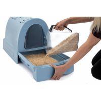 IMAC Krytý kočičí záchod s výsuvnou zásuvkou pro stelivo - modrý - D 40 x Š 56 x  42,5 cm
