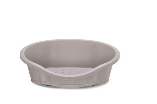 IMAC Plastový pelech pro psy - šedý - D 95 x Š 67,5 x V 28 cm
