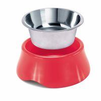 IMAC Miska pro psa nerez + plast - 400 ml - mix barev- průměr 16,2 cm