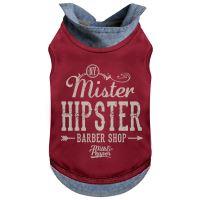 Tričko pro psa s límečkem Milk&Pepper - červené - 27 cm