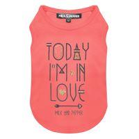 Tričko pro psa s nápisem Milk&Pepper - růžové - 27 cm