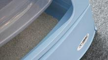 IMAC Krytý kočičí záchod s výsuvnou zásuvkou pro stelivo - šedý - D 40 x Š 56 x V 42,5 cm