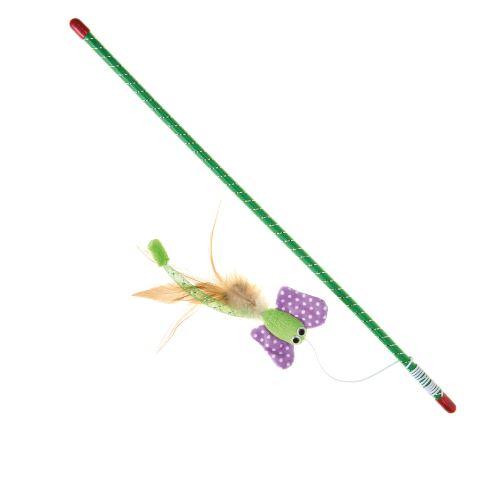 IMAC Hračka pro kočky - hůlka s motýlem - 47 cm