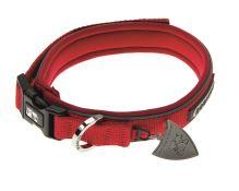 IMAC Nylonový nastavitelný obojek pro psa - červený - obvod krku 23-29, tloušťka 1,3 cm