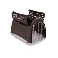 IMAC Přepravka pro kočky a psy - plastová - hnědá - D 50 x Š 32 x V 34,5 cm