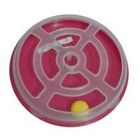 Hračka pro kočku - kruh s míčkem Argi - 29 x 5 cm - červená