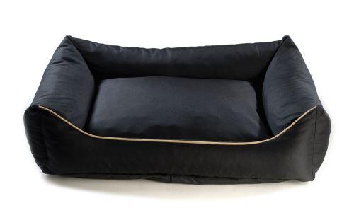 Pelech pro psa Argi obdélníkový - snímatelný potah z polyesteru - černý - 80 x 65 cm