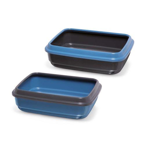 IMAC Kočičí záchod z recyklovaného plastu - modrý - D 50 x Š 40 x V 14,5 cm