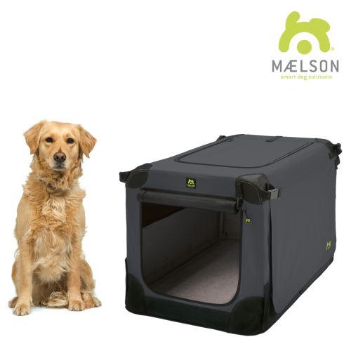 Maelson Nylonová skládací přepravka s ocelovou konstrukcí - černo-antracitová - XL - 92 x 64 x 64 cm