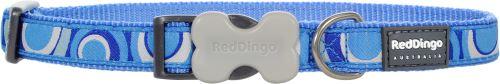Red Dingo Nylonový obojek vzor Circadelic Blue - 25 mm x 41-63 cm