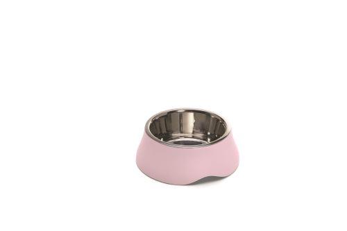 IMAC Miska pro psa a kočku - nerez + plast - růžová - 400 ml