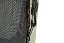 Maelson Nylonová skládací přepravka s ocelovou konstrukcí - černo-béžová - S - 62 x 41 x 41 cm