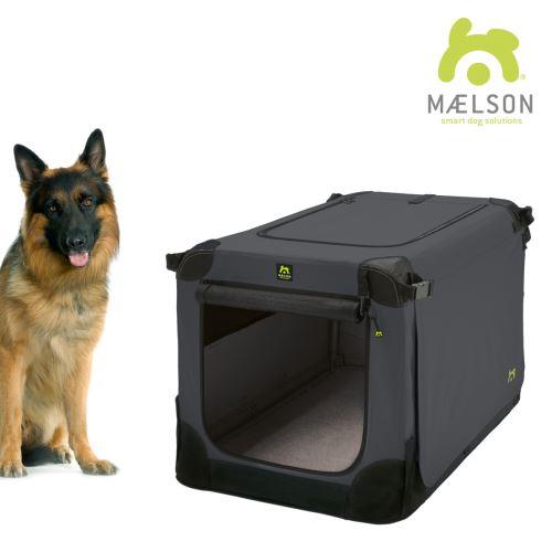Maelson Nylonová skládací přepravka s ocelovou konstrukcí - černo-antracitová - XXL - 105 x 72 x 81 cm