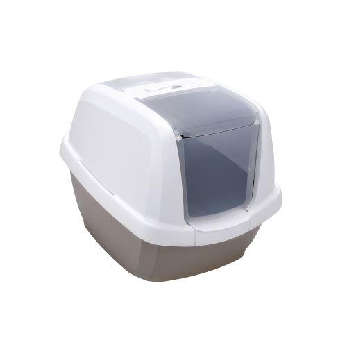 IMAC Krytý kočičí záchod s uhlíkovým filtrem a lopatkou - šedý - D 62 x Š 49,5 x V 47,5 cm
