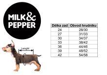 Mikina pro psa s kapucí Milk&Pepper - růžová - 42 cm