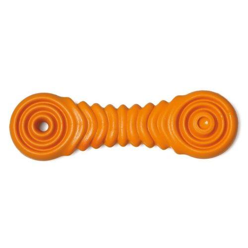 Gumová hračka pro psy Argi - typ 4 - oranžová - 17 x 5 cm