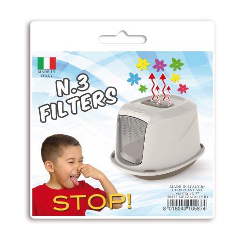 Náhradní filtry pro krytou toaletu Argi s rukojetí - 12 x 15,5 cm
